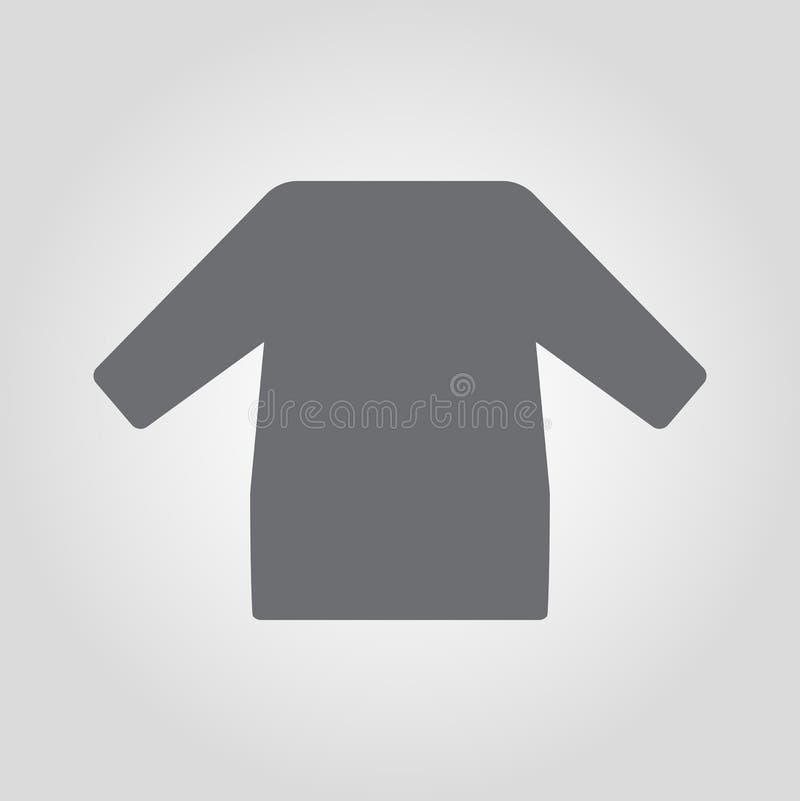 Lång slav- skjorta isolerad symbol royaltyfri illustrationer
