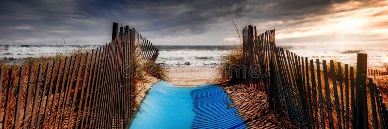 lång strandö arkivbild
