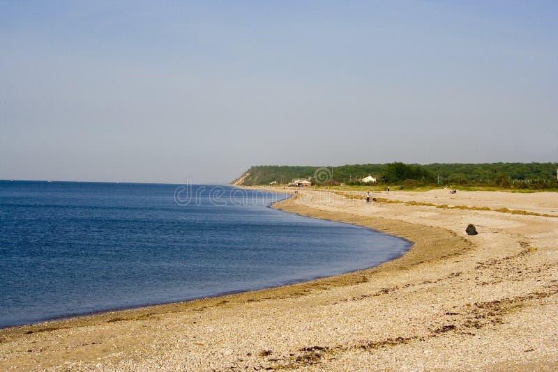 lång strandö royaltyfri foto
