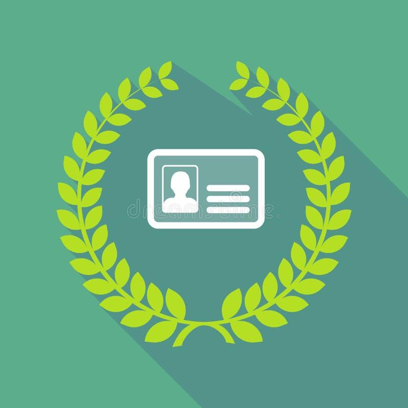Lång symbol för skuggalagerkrans med ett ID-kort royaltyfri illustrationer