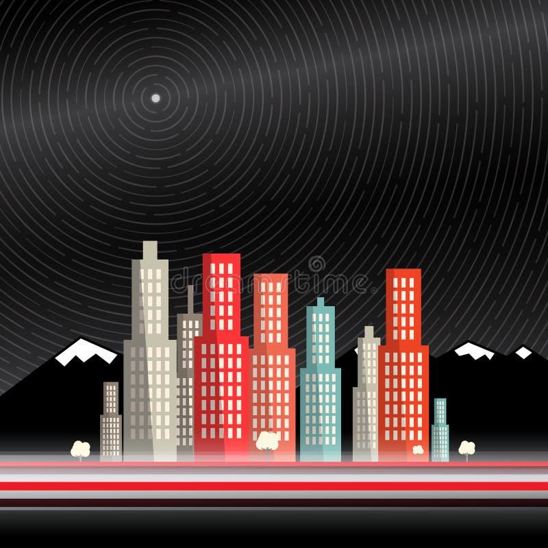 Lång tidexponering vektor illustrationer
