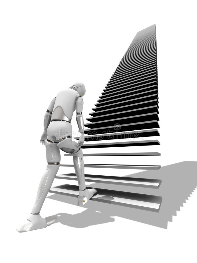 lång trappa vektor illustrationer