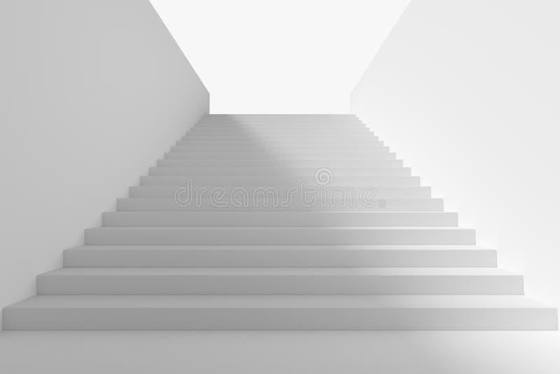 Lång trappuppgång i underjordisk passage uppåt med stor skugga vektor illustrationer