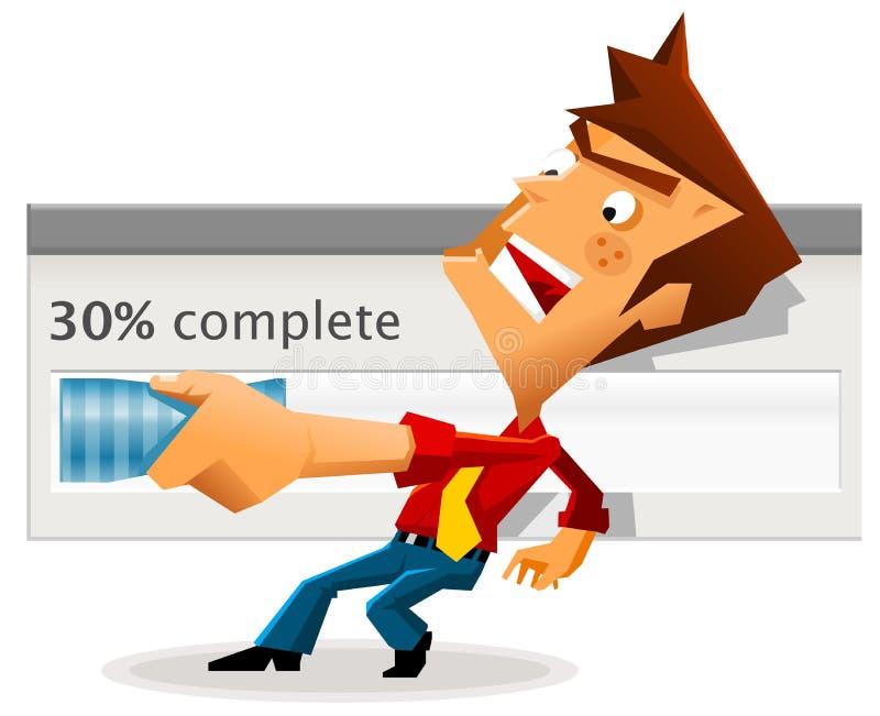 långsam hastighet för nedladdninginternet stock illustrationer