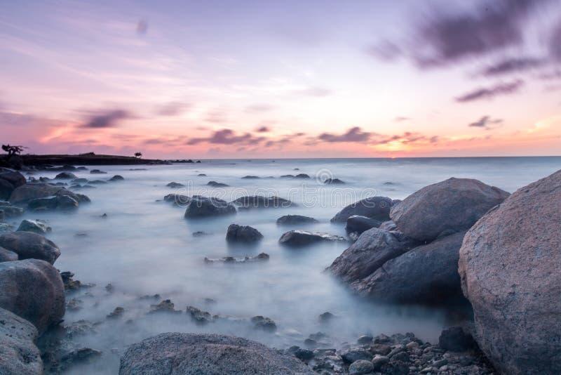 Långsam solnedgång arkivfoto