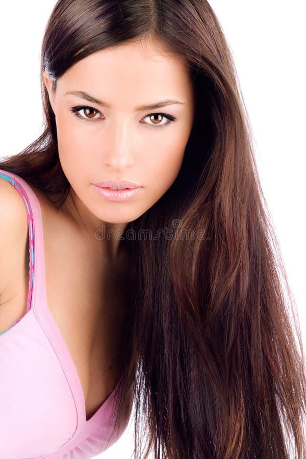Långt hår royaltyfria foton