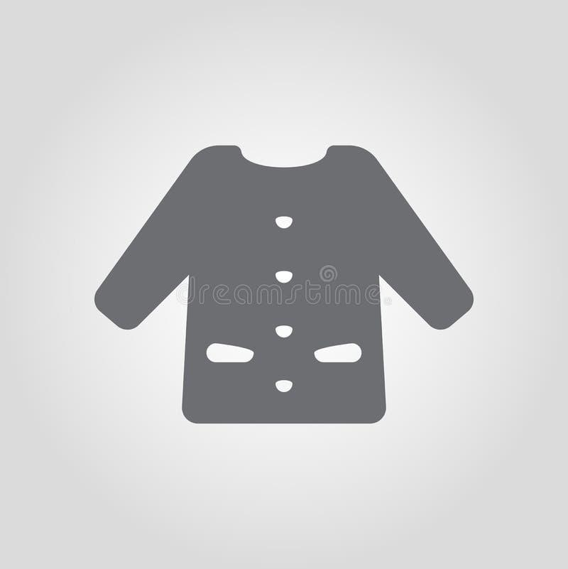 Långt slav- omslag isolerad symbol royaltyfri illustrationer