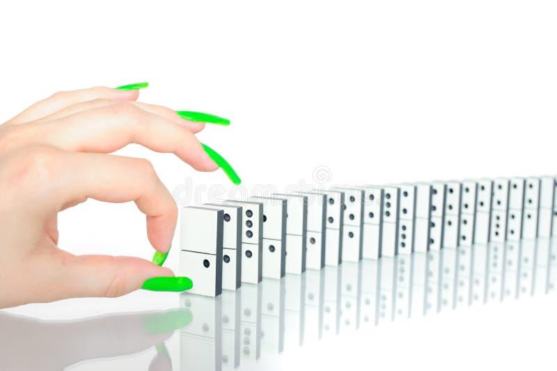 låsa fast för domino fotografering för bildbyråer