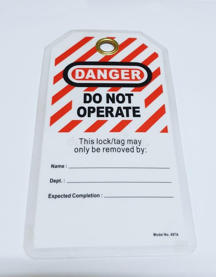 Låsa ut & märka ut, lockoutstationen, maskinen - specifika lockoutapparater royaltyfria foton