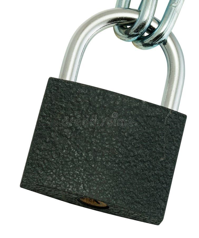 Låst nyckel- lås arkivbilder
