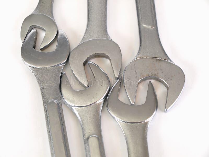 låsta skiftnycklar royaltyfri foto