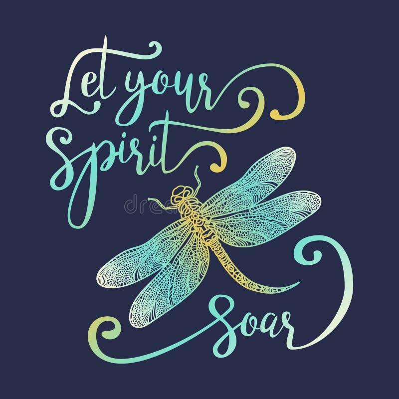 Låt din ande skjuta i höjden vektor illustrationer