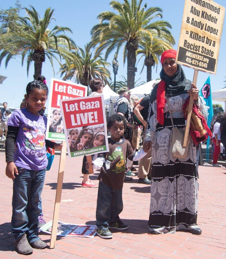 Låt levande Gaza! royaltyfria bilder