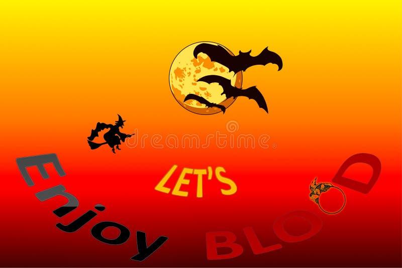 Låt oss göra skräckting på halloween royaltyfri fotografi