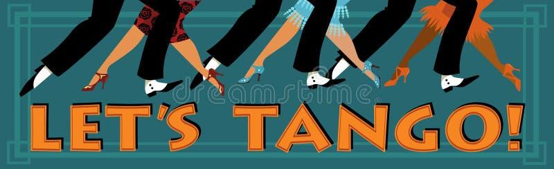 låt s-tango stock illustrationer
