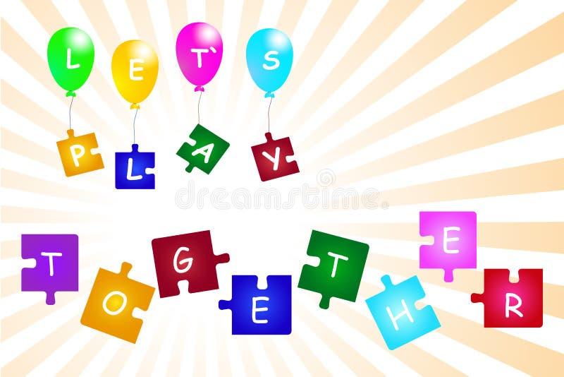 Låt vektorn för begreppet för lek för ` s tillsammans vektor illustrationer