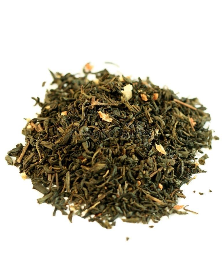 låter vara grön isolerad jasmin för closeupen tea royaltyfri fotografi