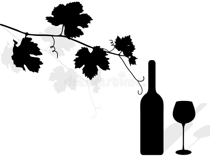 låter vara vinen vektor illustrationer