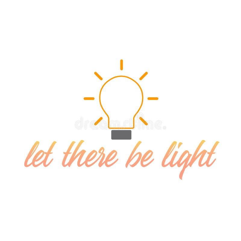 Låtet finns det det motivational citationstecknet för ljus som beskriver idérika idéer vektor illustrationer