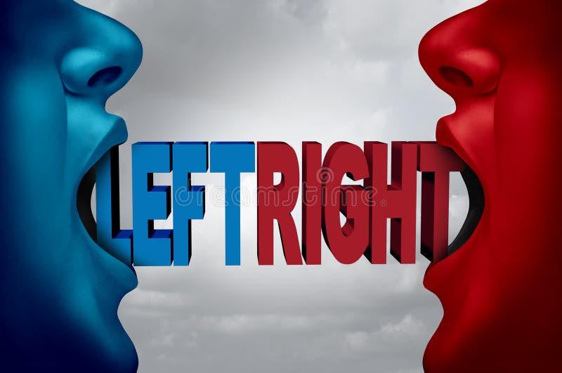 låtet vara politiskt framfört höger sida för riktningar 3d illustration royaltyfri illustrationer