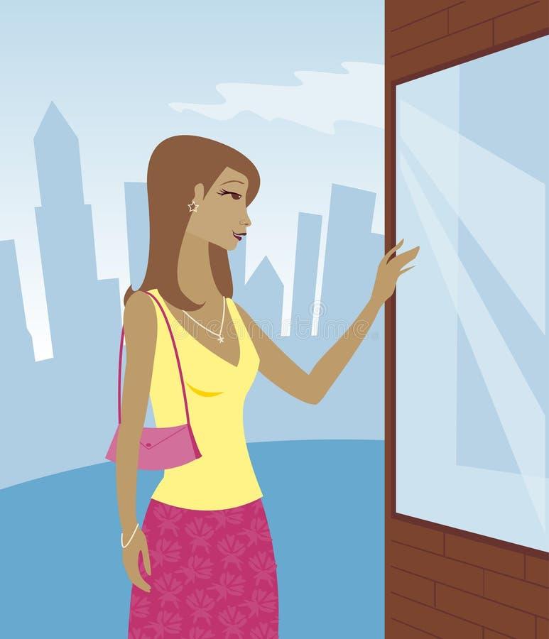 Lèche-vitrines - jour illustration libre de droits