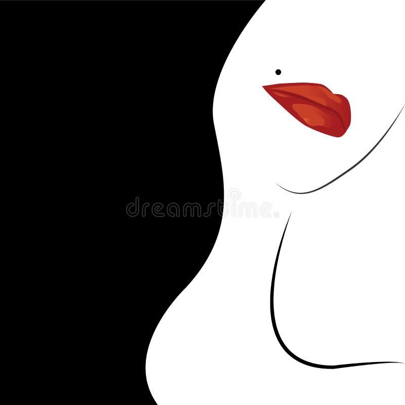 Lèvre rouge photo libre de droits