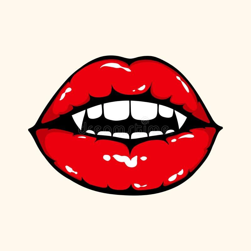 Lèvres de vampire illustration de vecteur