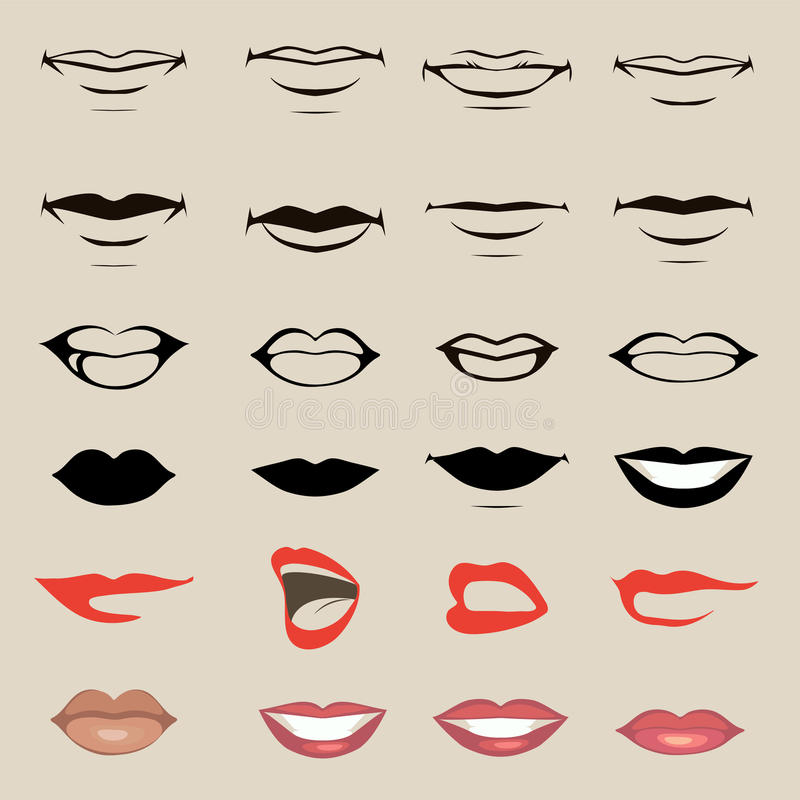 Lèvres de vecteur illustration libre de droits