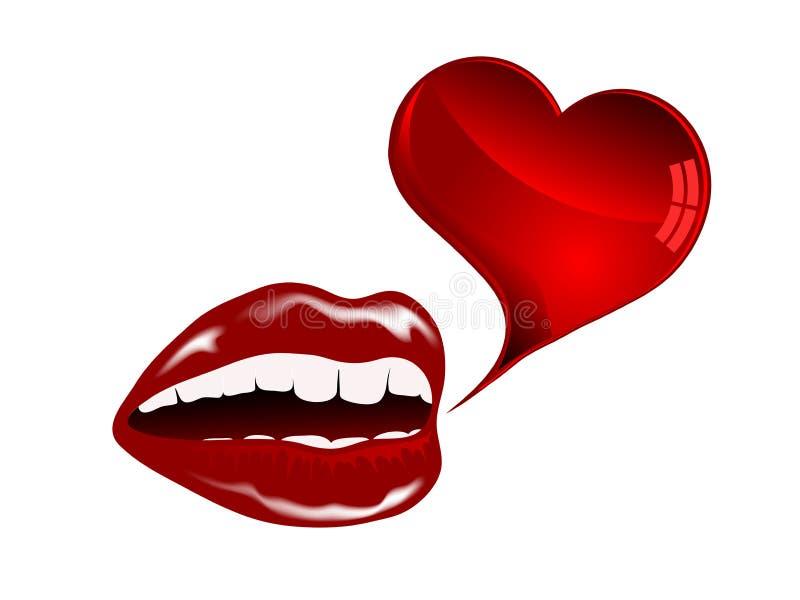Lèvres Rouges Images libres de droits