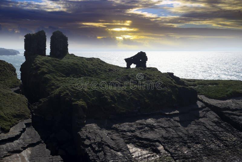Léchez le château dans le comté kerry images libres de droits