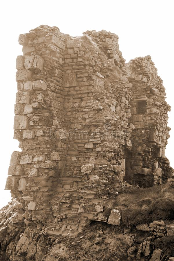 Léchez le château dans la sépia image stock