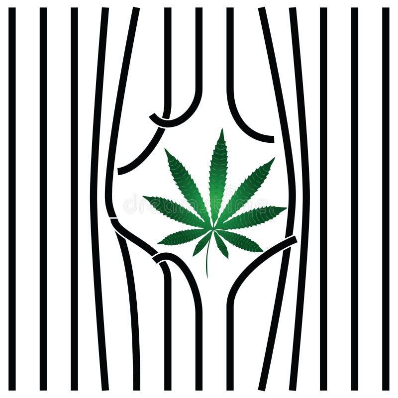 Légalisation de marijuana illustration stock