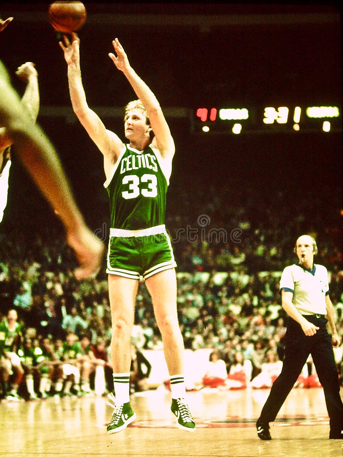 Légende de Celtics de Larry Bird Boston photographie stock libre de droits
