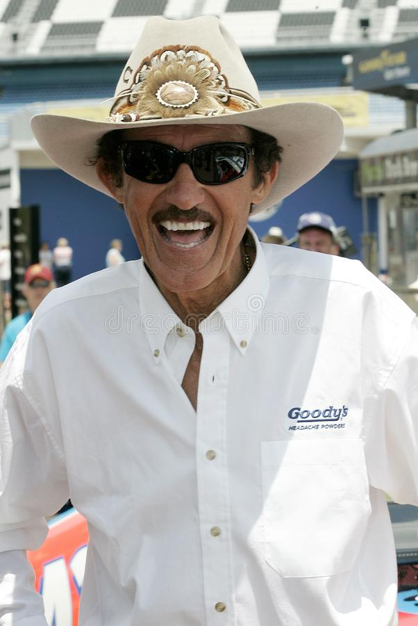 Légende Richard Petty de NASCAR image libre de droits