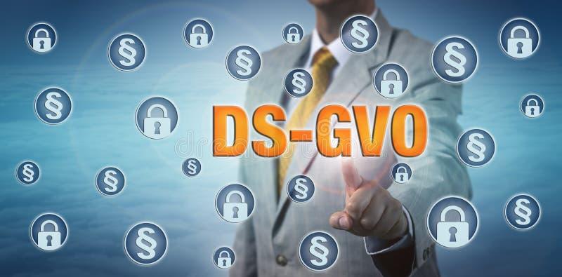 Législateur accentuant DS-GVO dans le cyberespace photo libre de droits