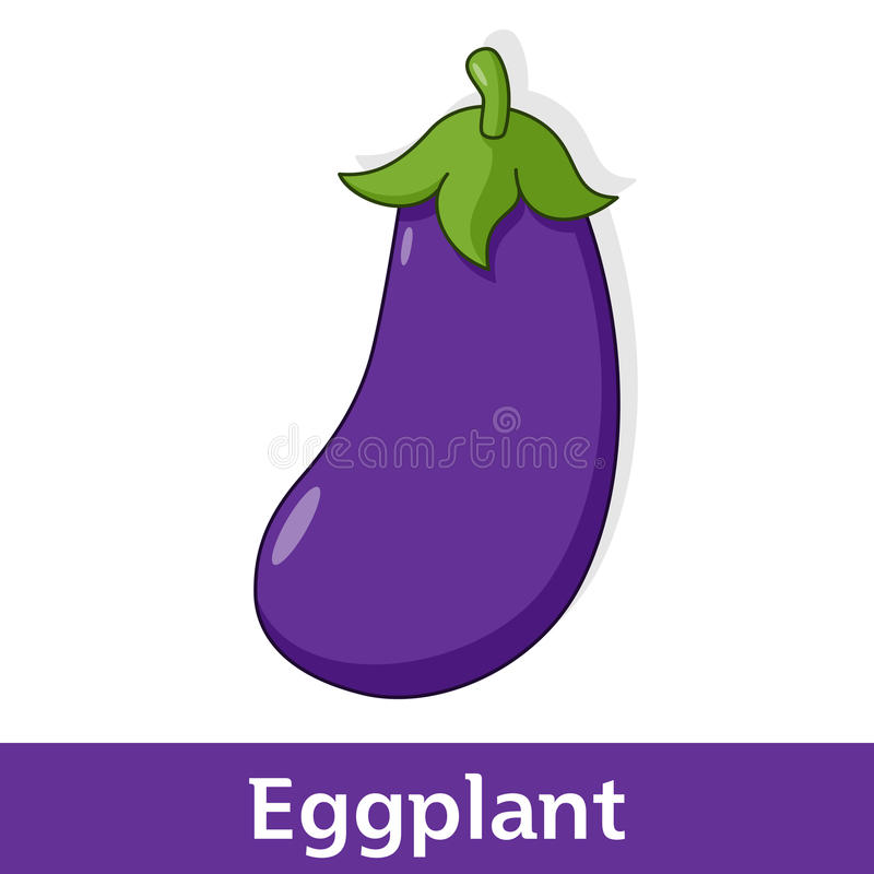 Légume de bande dessinée - aubergine ou aubergine illustration libre de droits