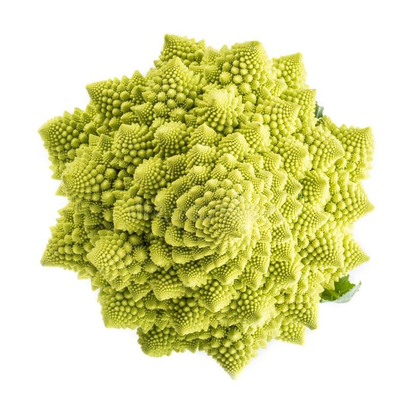 Légume de brocoli de Romanesco d'isolement sur le fond blanc image libre de droits