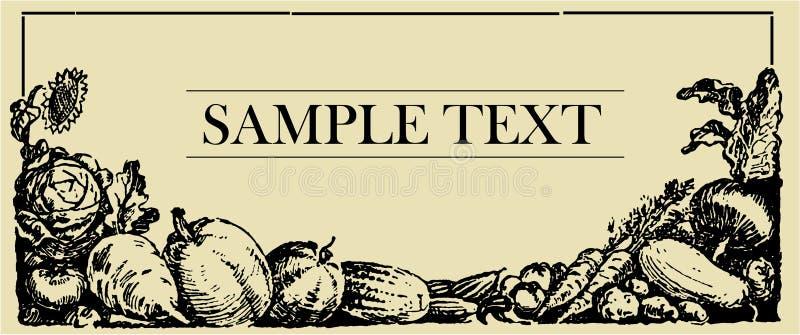 légume de signe de panneau illustration libre de droits