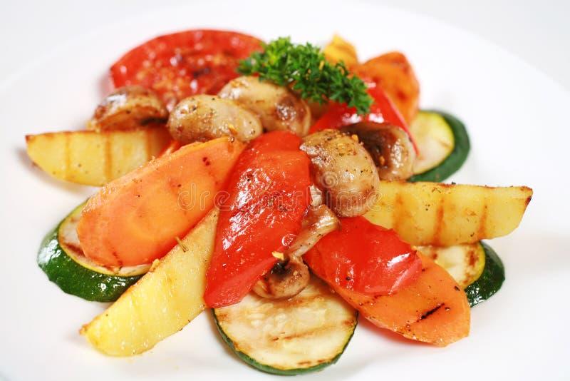 Légume et champignons grillés photographie stock