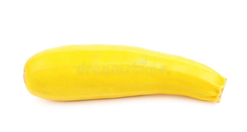 Légume jaune de courgette d'isolement images stock