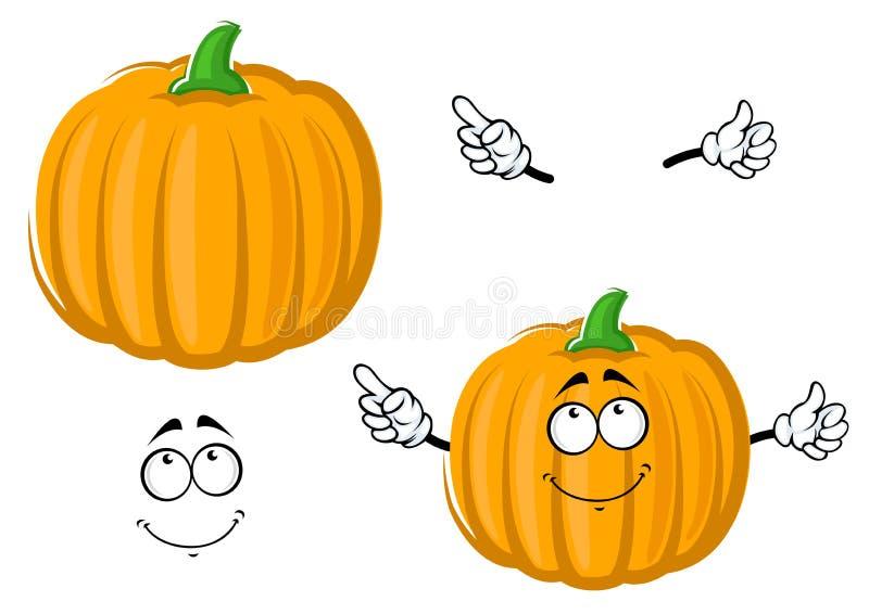 Légume orange heureux de potiron de bande dessinée illustration de vecteur