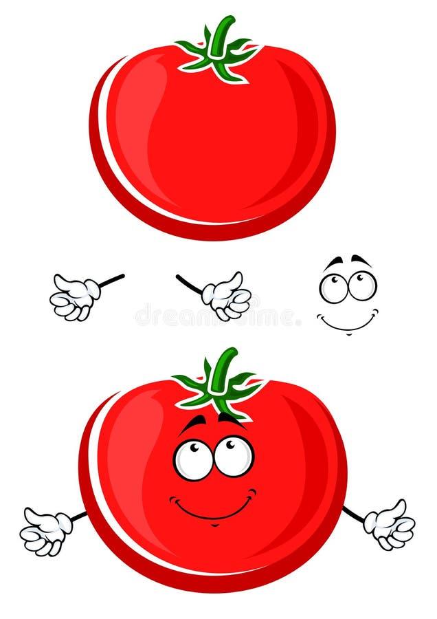 Légume rouge juteux mûr de tomate de bande dessinée illustration de vecteur