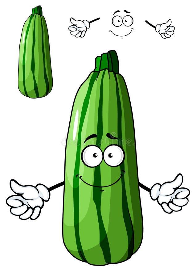 Légume vert frais de courgette de bande dessinée illustration libre de droits