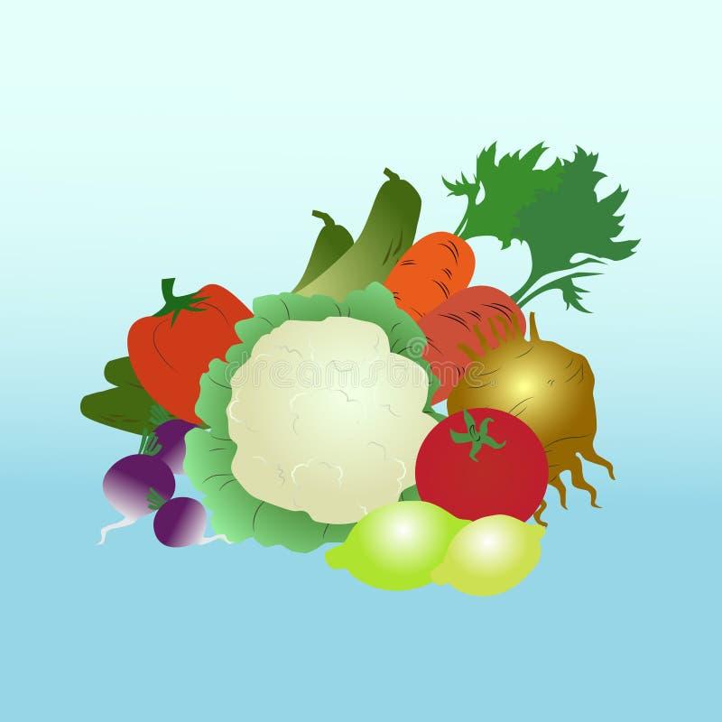 Download Légumes illustration stock. Illustration du restaurant - 56477557