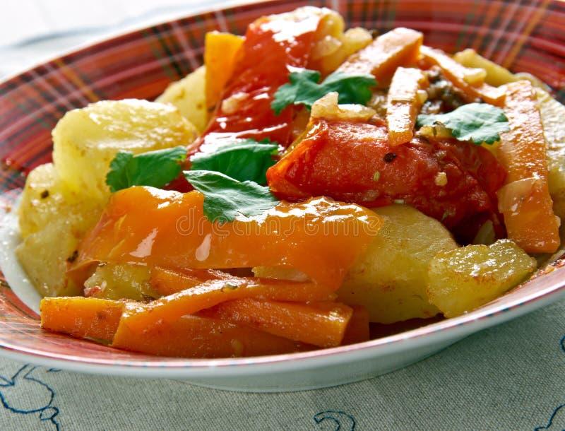 Légumes albanais images libres de droits
