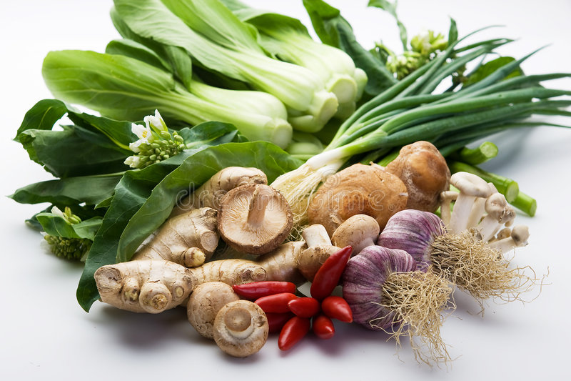 Légumes asiatiques assortis images stock