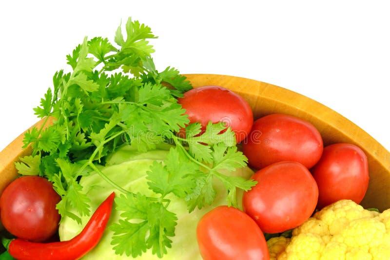 Légumes asiatiques colorés d'isolement sur le blanc image libre de droits