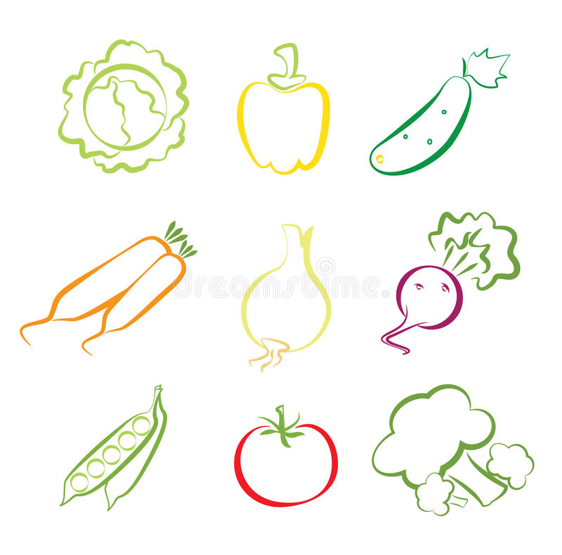 Légumes assortis illustration de vecteur