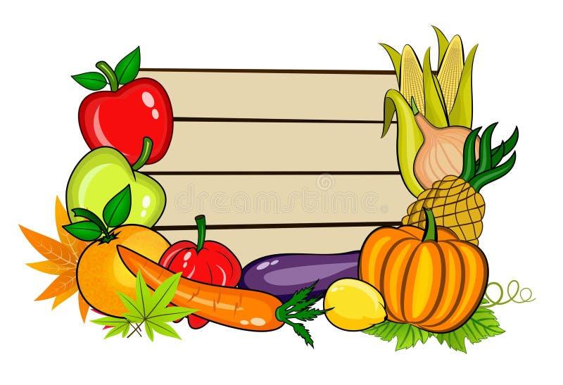 Légumes avec l'espace de copie illustration libre de droits