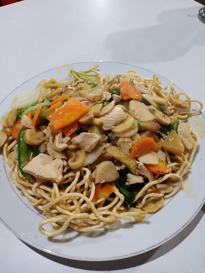Légumes, champignons et filets de soja photos libres de droits